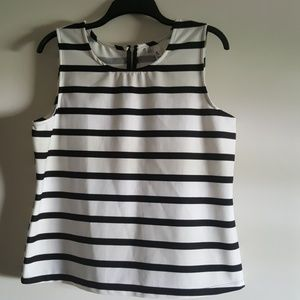 Jules & Leopold Black and White Striped Top